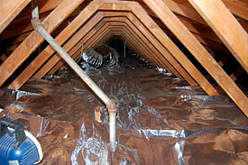 Insulation And Radient Barriers Under Deck Residential